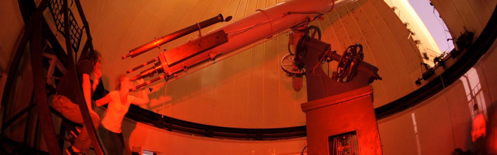 Using the telescope inside Washburn Observatory