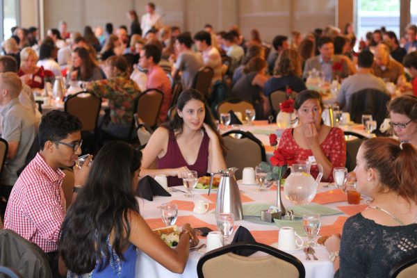Students at the 2016 First-Year Dinner